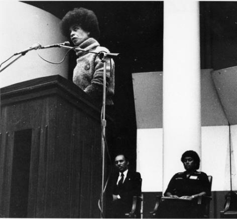 [Angela Davis at BCC, 1983], Archives, Bronx Community College, City University of New York.