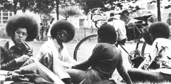 [BCC Student, 1976, S11_A_Students_outside_1976], Archives, Bronx Community College, City University of New York.